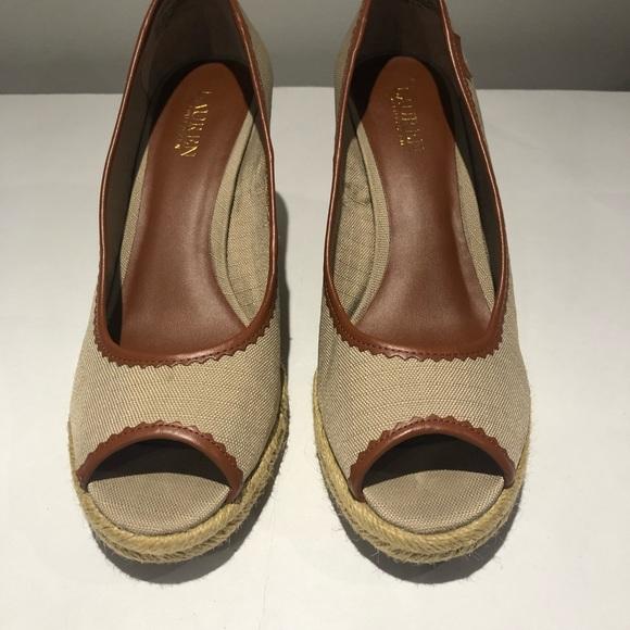 Ralph Lauren Shoes | Peep Toe Wedge